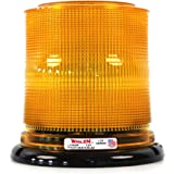 Permanent Mount with Dome Federal Signal 443112-02 Class 1 Model 100 Halogen Beacon CAC Title 13 Amber 95 FPM