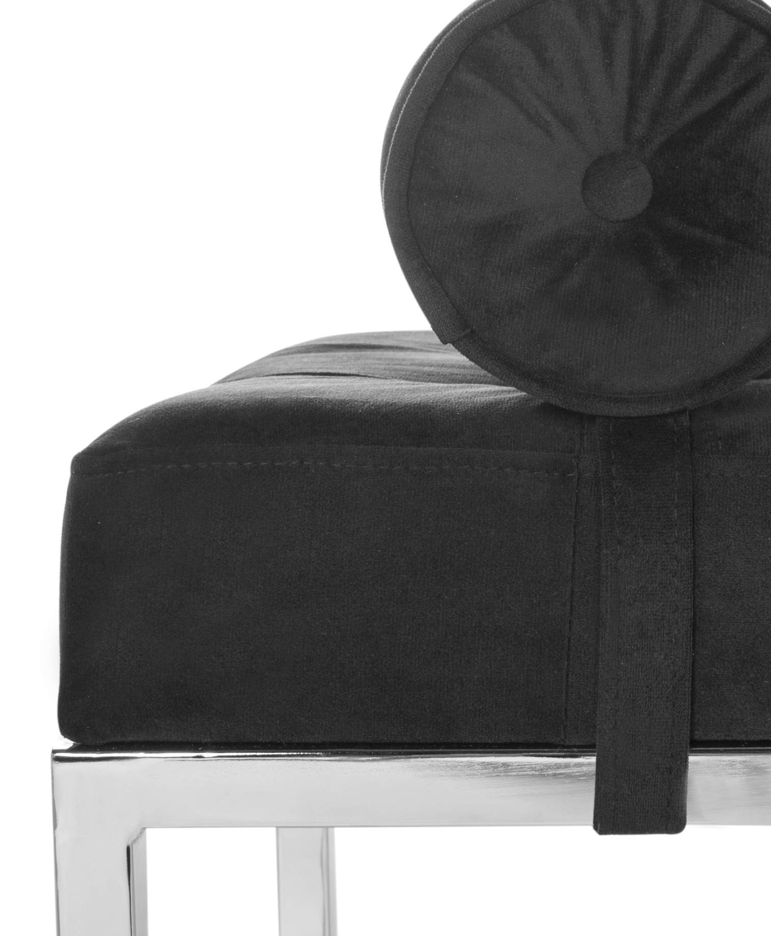 Safavieh FOX6240B Home Collection Xavier Tufted Bench, Black by Safavieh (Image #6)