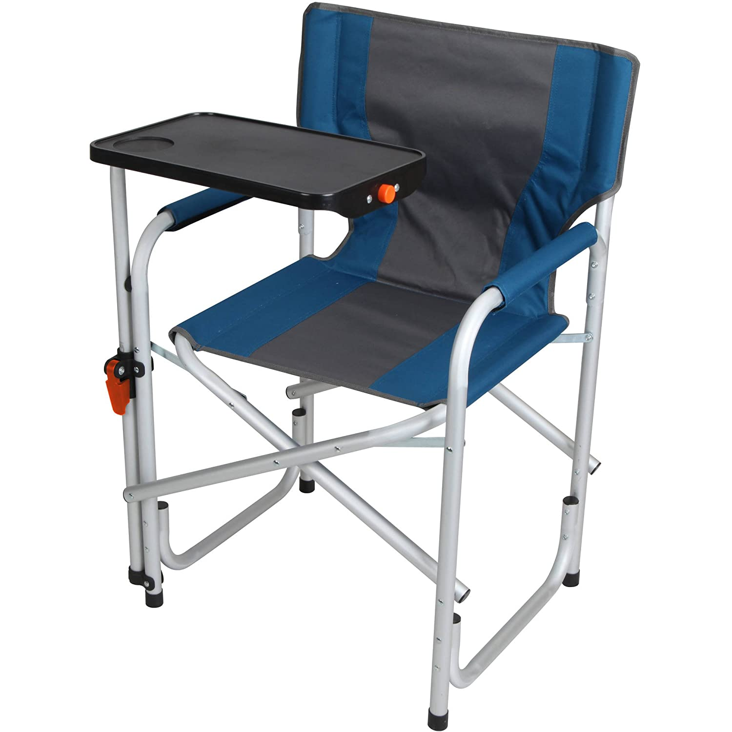 Amazon.com : Ozark Trail Aluminum Directoru0027s Chair With Swivel Desk, Blue :  Sports U0026 Outdoors