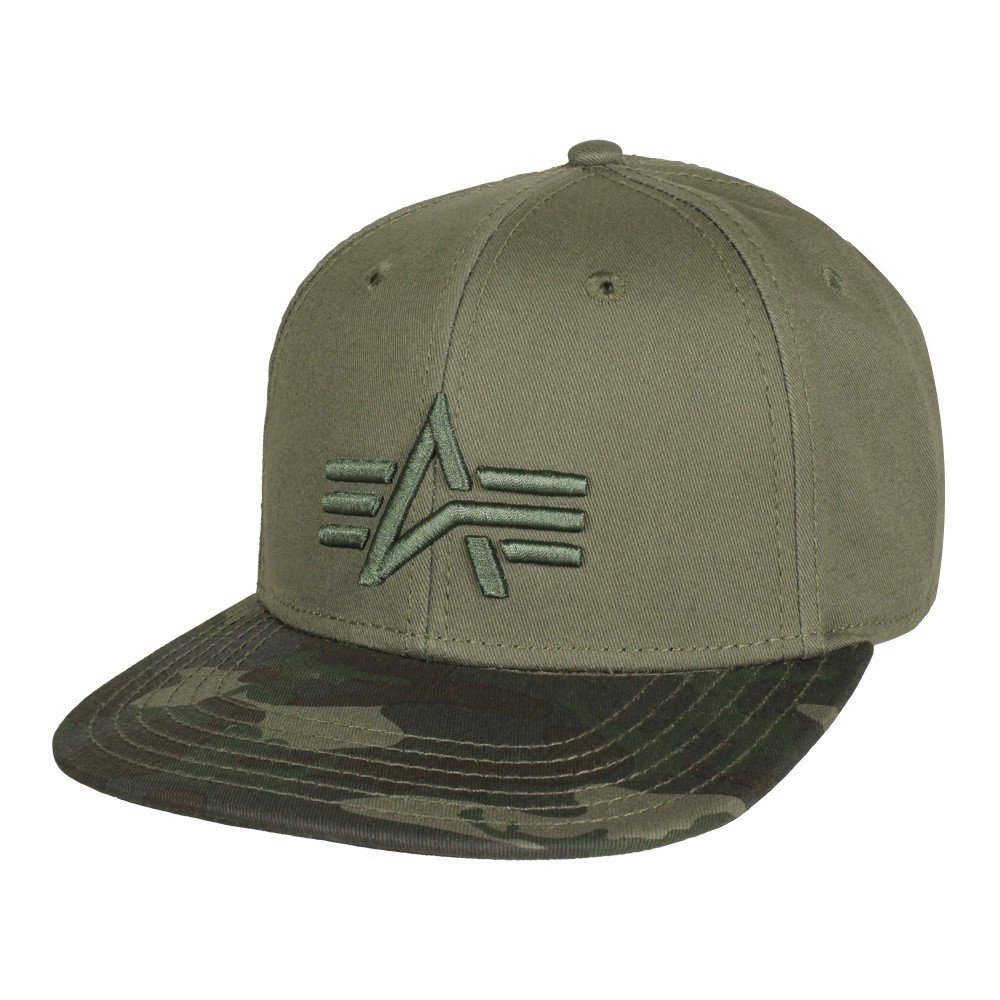 3467073a9133cc Alpha Industries Camo Logo Baseball Cap | Woodland Camo: Amazon.ca:  Clothing & Accessories