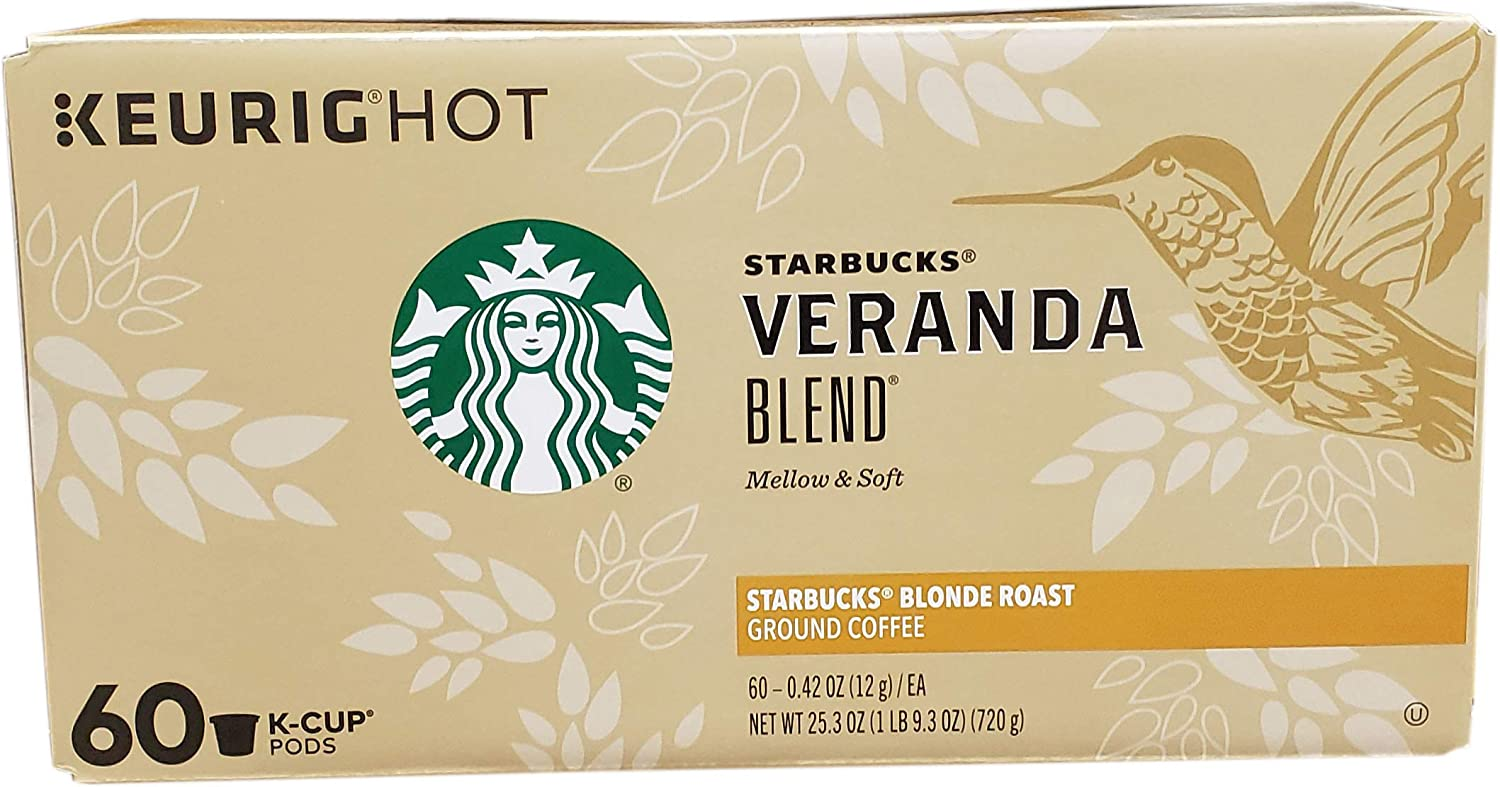 Starbucks Veranda Blend Blonde Roast K-Cup Pods, Mellow & Soft, 25.3 Ounce