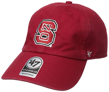 best authentic b95f7 c6c3e Amazon.com   NCAA North Carolina State Wolf Pack  47 Brand Clean Up  Adjustable Hat, Red, One Size   Sports   Outdoors
