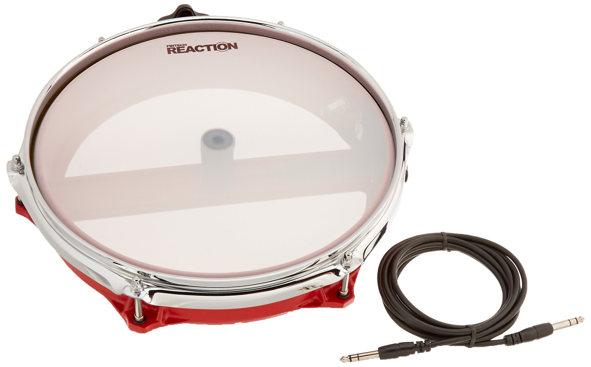 Pintech Percussion CC122R Red Concert Cast Drum Pad 12'' Dual Zone