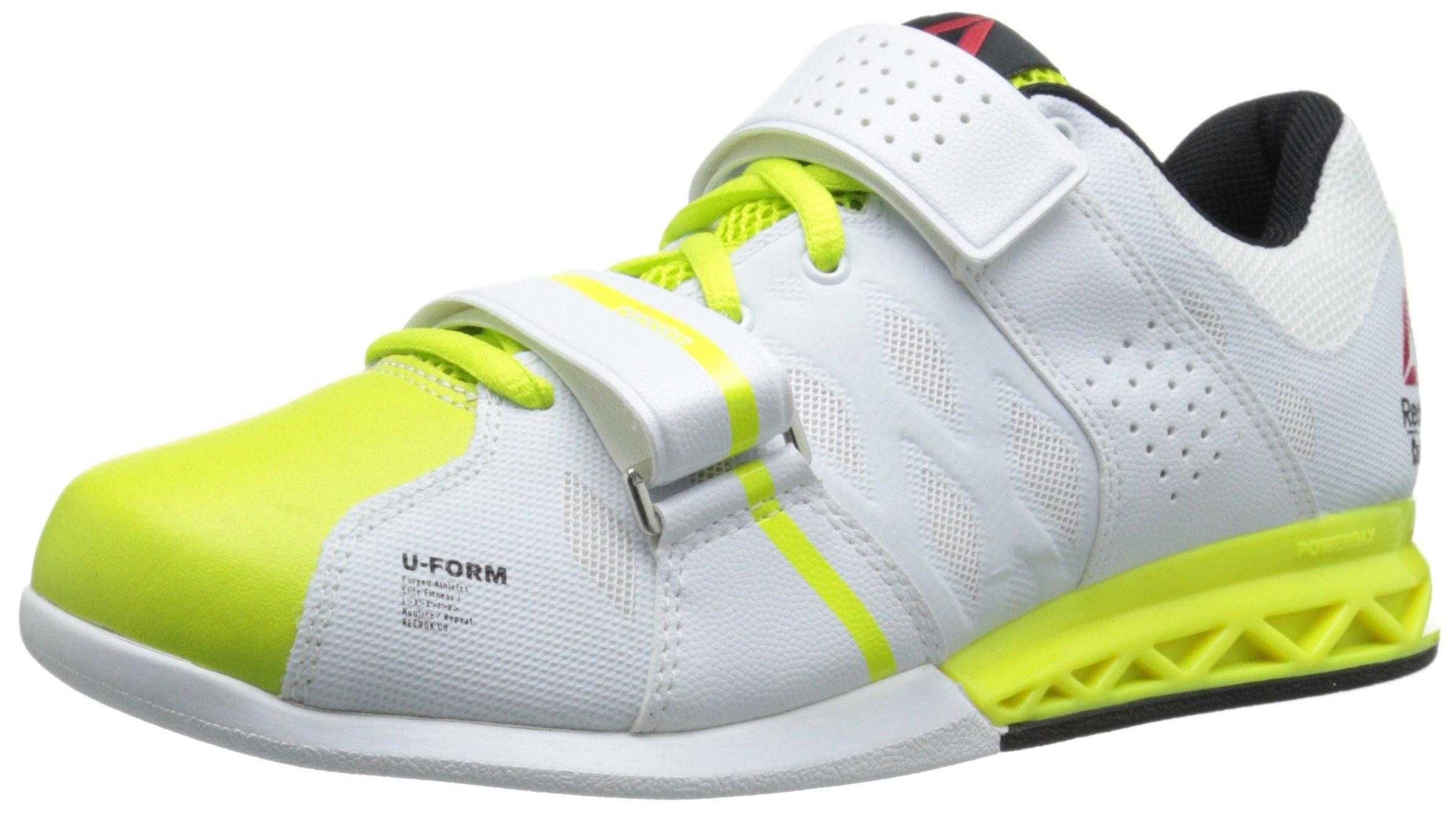 Reebok Women's R Crossfit Lifter Plus 2.0 Training Shoe, Semi Solar Yellow/White/Black, 8.5 M US
