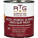 RTG Deck, Porch, Patio Anti-Slip Paint (Quart, Clear/Amber)