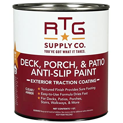 RTG Deck, Porch, Patio Anti Slip Paint (Quart, Clear/Amber