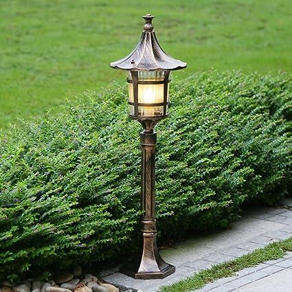 Amazon.com : Vampsky European Retro Glass Lantern Waterproof ...
