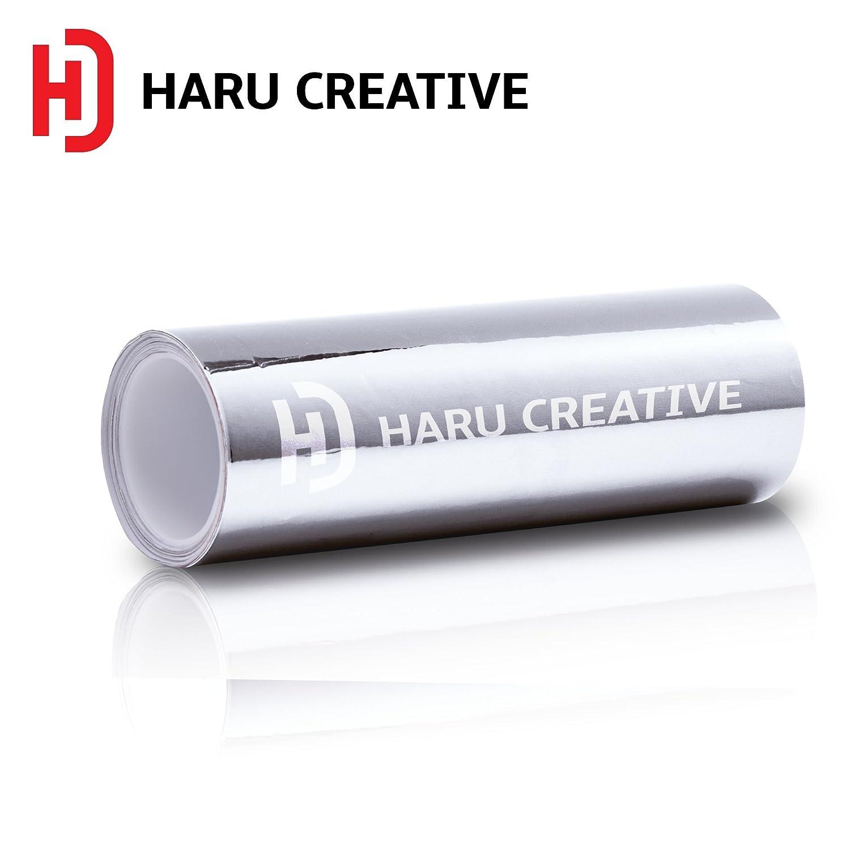 2FT x 5FT Loyo Haru Creative Chrome Vinyl Wrap DIY Film Decal Air Release Sheet Roll Silver Chrome 24 x 60 in
