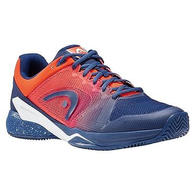 dff668f95c2 SCARPA UOMO HEAD TENNIS PERFORMANCE FOOTWEAR 273018 075 BLUE FAME ORANGE  Size   42