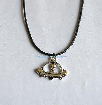 Amazon com: I Want to Believe Alien Ufo Necklace Alien Choker