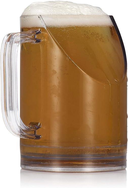 npw-usa mejor ver la televisión Slanted jarra de cerveza: Amazon.es: Hogar