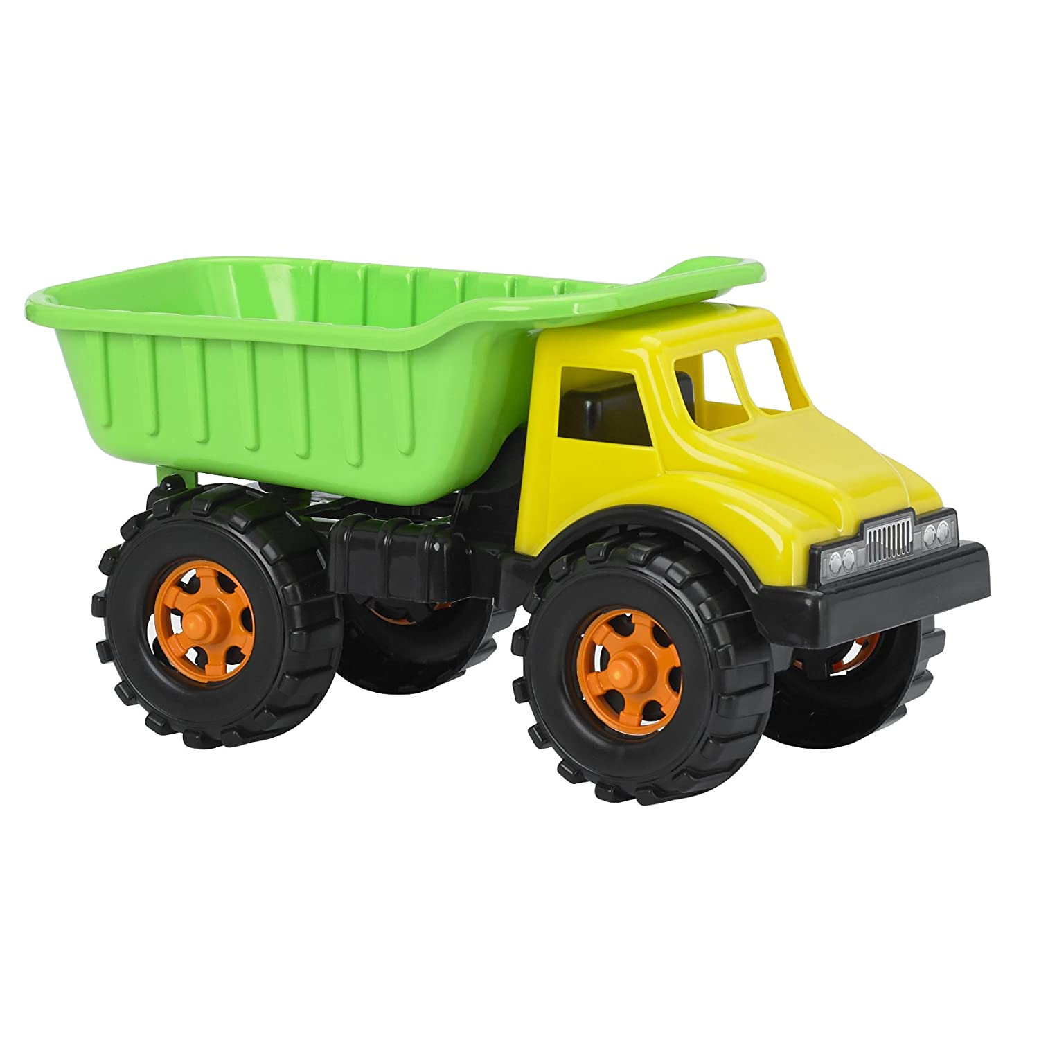"Amazon American Plastic Toys 16"" Dump Truck Assorted Colors"