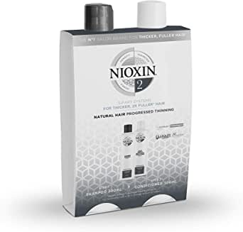 Nioxin System 2 Duo for thicker, fuller-looking hair. For natural, progressed thinning hair
