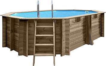 Gre 790086 - Piscina (Piscina con Anillo Hinchable, Hexagonal, 11200 L, Azul, Madera, FSC, PEFC, 4000 l/h): Amazon.es: Juguetes y juegos