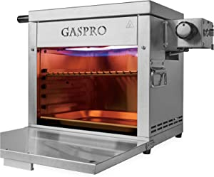 GASPRO Multi-Tasking Propane Infrared Outdoor Cooking Master, XL Steakhouse & Cast-Iron Griddle 2-in-1, Dustproof Foldable Panel