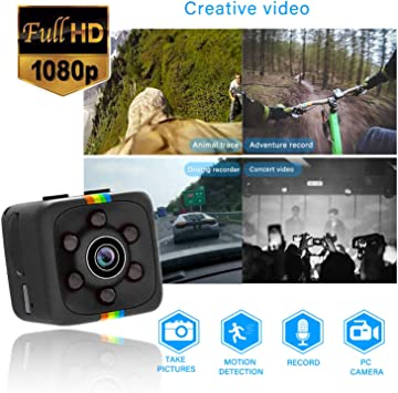 Mini Camera Full Hd 1080p Portable Small Surveillance Camera Micro Nanny Cam With Motion Detection And Infrared Night Vision Compact Security Camera For Indoor And Outdoor Use Baumarkt
