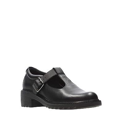 40bec7869b3 Clarks Kids Girls  Black Leather  Frankie Street  Shoes  Amazon.co ...