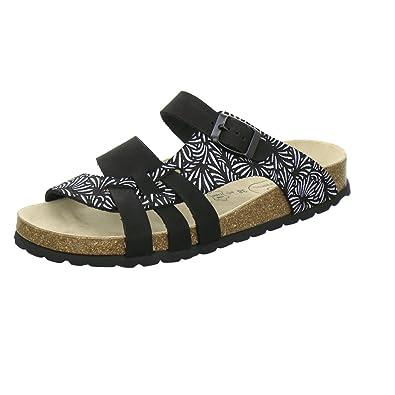 AFS-Schuhe 2122, Modische Damen-Pantoletten, Bequeme Hausschuhe Größe 43 Schwarz (Schwarz)