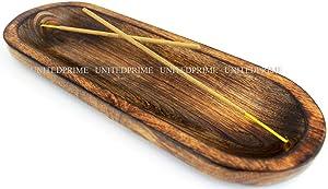 Wooden Handmade Incense Burner Stick Holder Ash Catcher Unique Gift Wood Home Decor
