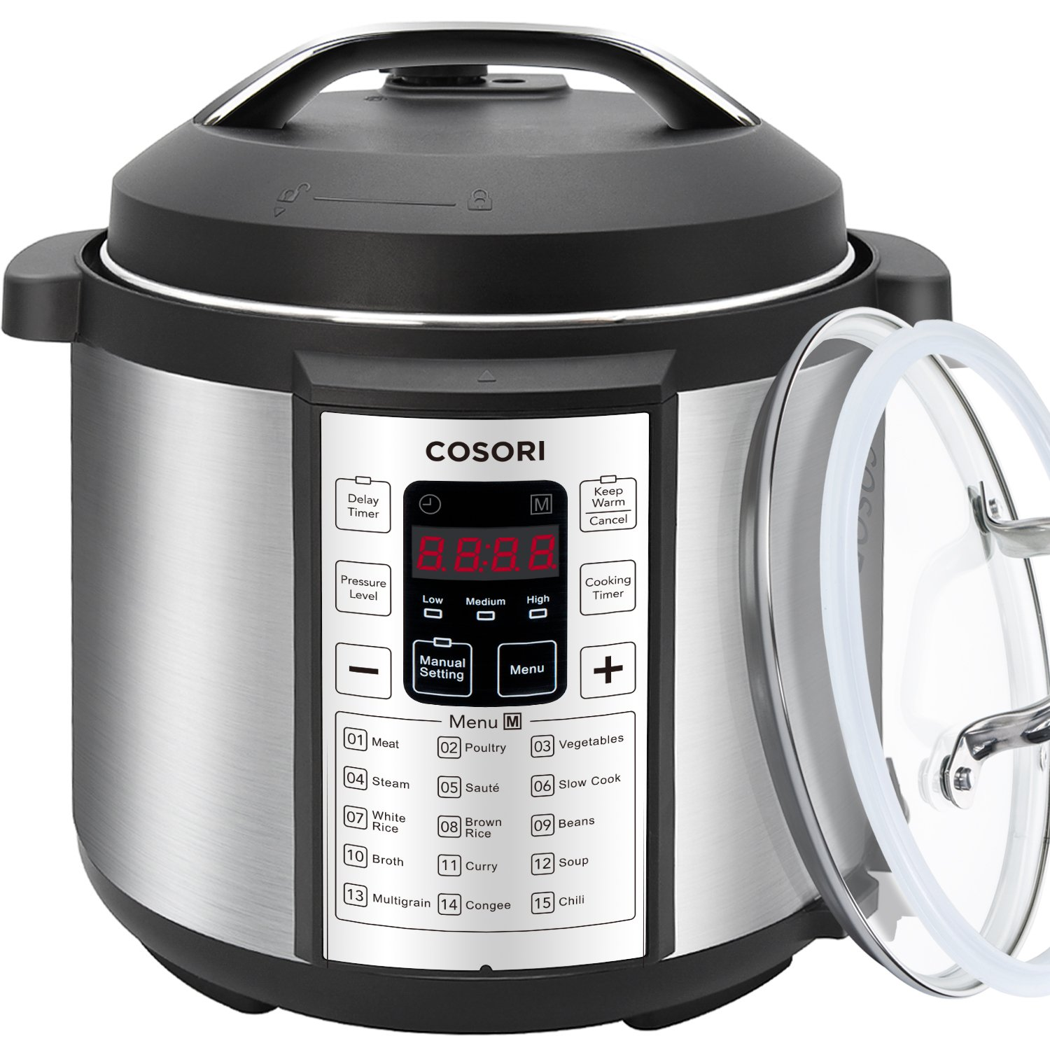 COSORI Electric Pressure Cooker 7-in-1 Multifunctional, with Tempered Glass Lid
