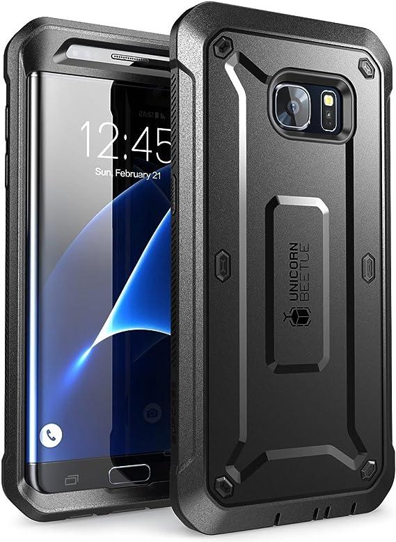 SupCase Funda Galaxy S7 Edge [Serie Unicorn Beetle Pro] 360 Grados Case para Samsung Galaxy S7 Edge Negro: Amazon.es: Electrónica