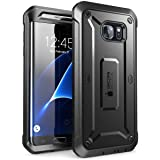 Galaxy S7 Edge Case, SUPCASE Full-body Rugged Holster Case WITHOUT Screen Protector for Samsung Galaxy S7 Edge (2016 Release), Unicorn Beetle PRO Series - Retail Package(Black/Black)