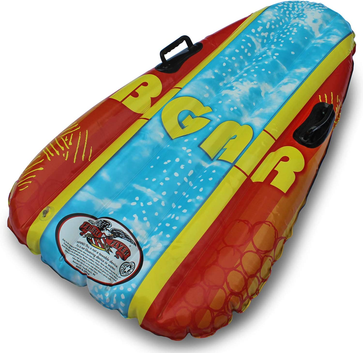 Flexible Flyer Big Air Heavy Duty Inflatable Snow Sled. Sno Slider