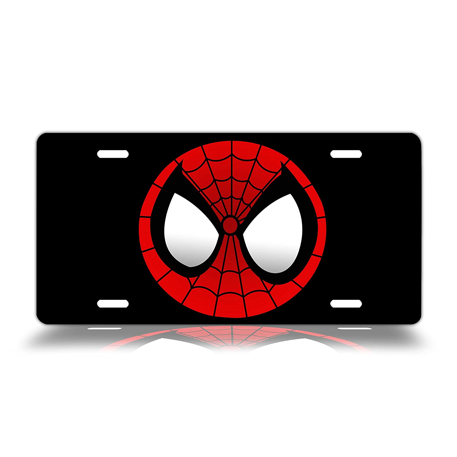 Dang Xin Spiderman Eyes Metal License Plate 12×6 inches