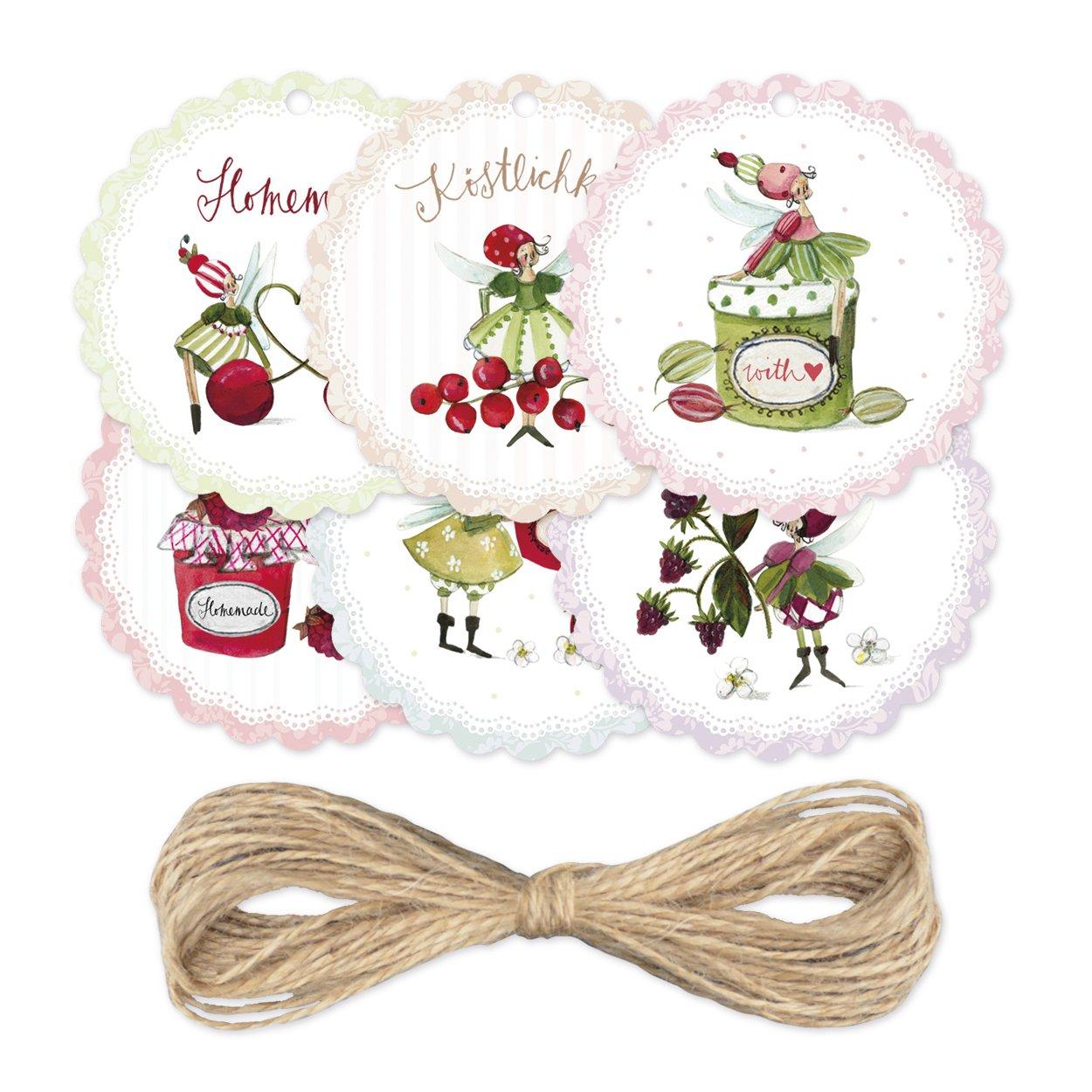 Gr/ätz Deko Set di marmellata marmellata//ideale come regalo per amici o da riempire a 48/pezzi