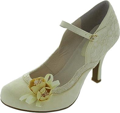 95fb4496d76ea8 Ruby Shoo Damen Pumps Silvia Florale Riemchen Schuhe Geschlossen ...