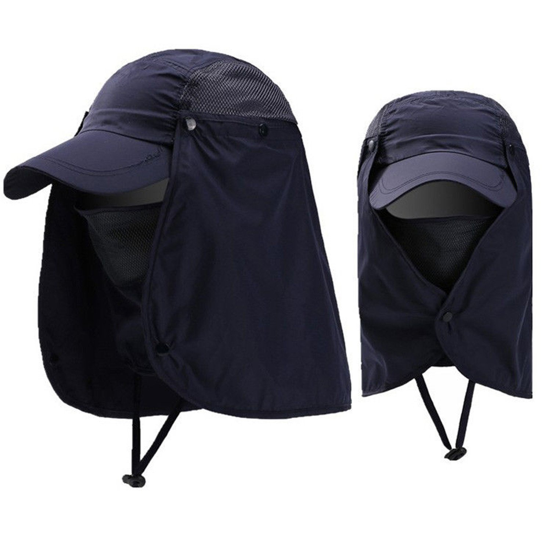 7Colors Outdoor Sun Hat Mens Brim Fishing Sun Hat Summer Travel Anti-UV Hats Cap Anti-Mosquito