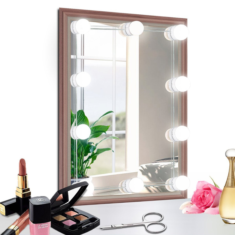 ハリウッドスタイルLEDバニティミラーライトキットwith 10調光機能付きライト電球、照明器具Strip forメイクアップ化粧台テーブルで設定Dressing部屋(ミラーNot Include) [最新バージョン] 10 Bulbs Kit BW-HM0002#10 B07D7VLHY5 15799   10 Bulbs Kit