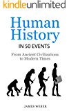 History: Human History in 50 Events: From Ancient Civilizations to Modern Times (World History, History Books, People History) (History in 50 Events Series Book 1)