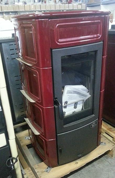 stufa a legna palazzetti royal alice rossa maiolica 10,4 kw Pôele á ...