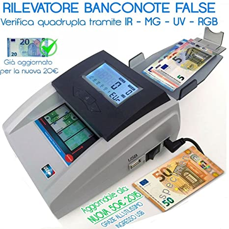 tradeshoptraesio® – Mini detector de billetes falsos Euro Detector para Negocio Casa Oficina hs8989