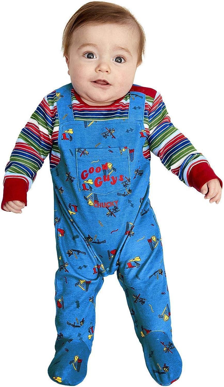 Smiffy's Smiffys Officially Licensed Chucky Baby Costume Disfraz oficial de Chucky de Smiffys. Hombre