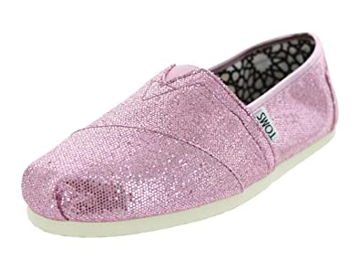0e60223fc113 Image Unavailable. Image not available for. Color: TOMS Womens TOMS GLITTER  CLASSICS CASUAL SHOES 5.5 (PINK ...