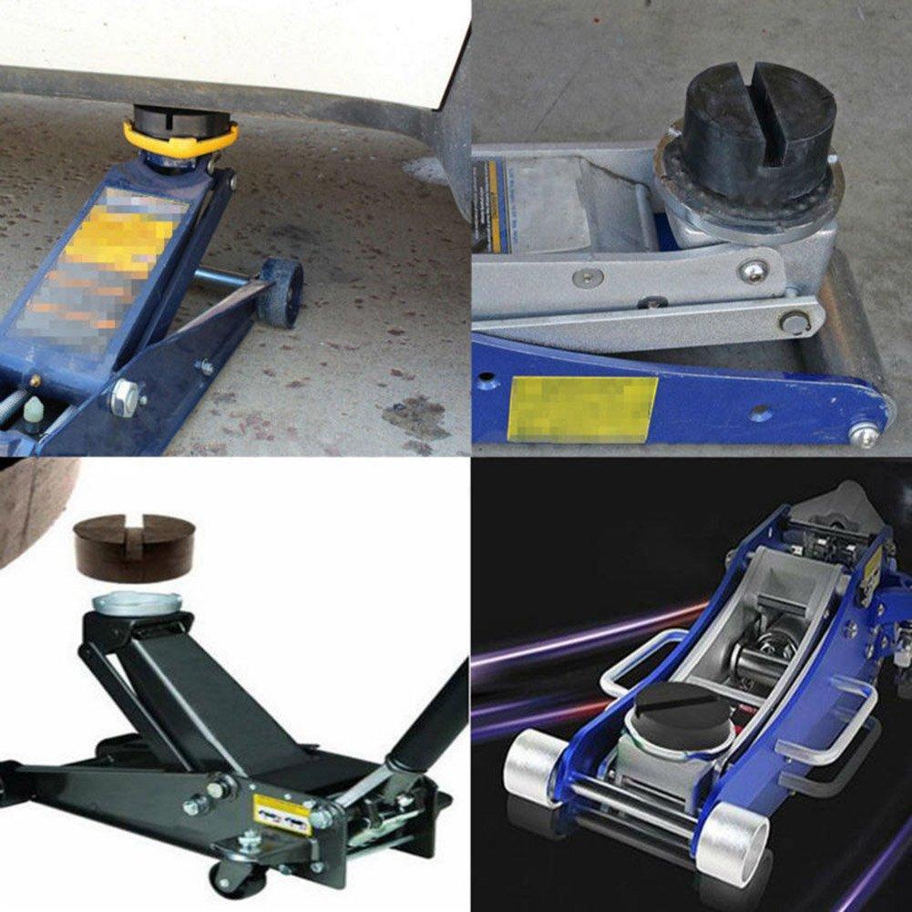 2Pcs Universal Car Rubber Jack Pad Slotted Frame Rubber Jacking Pad Block Car Motorbike Workshop Tool 63 x 25mm