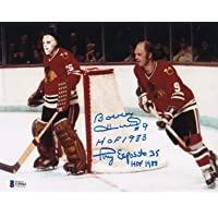 $89 » Beckett Bobby Hull & Tony Esposito Dual Autographed Signed Chicago Blackhawks In…
