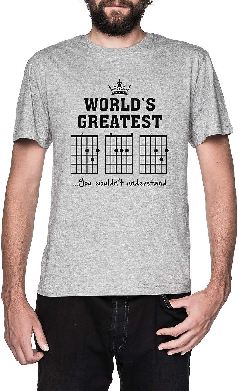 F Acorde Papá Gracioso Guitarra tee- Único Padres Día Regalo Gris Camiseta Hombre Manga Corta Grey T-Shirt Mens: Amazon.es: Ropa y accesorios