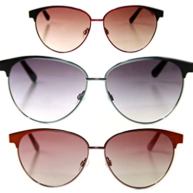 Miss Sixty Designer Sonnenbrille Clubmaster, Bronze mit braunen Gläsern für Damen