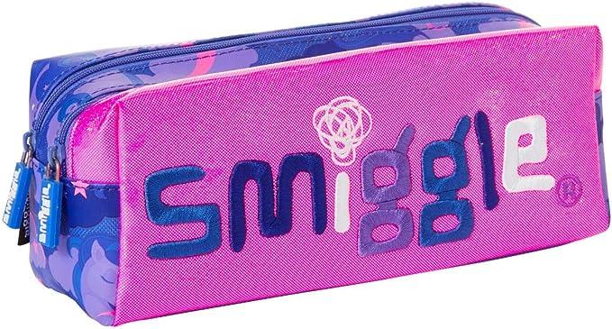 Smiggle Seek, estuche portalápices escolar con dos cremalleras para niñas y niños | Con dibujos de unicornios: Amazon.es: Oficina y papelería
