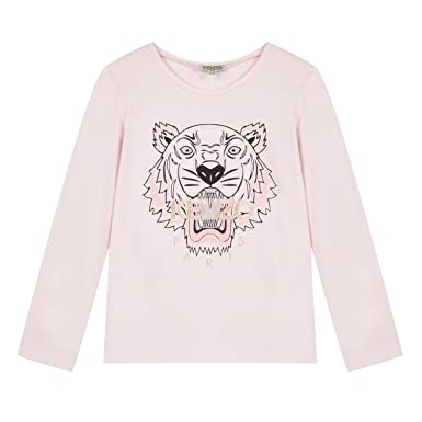 c39fad2932 Amazon.com: Kenzo Kid Girl Pink Tiger Long Sleeved T-Shirt: Clothing