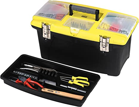 Stanley 92906 480mm Tools Storage or 19 Plastic Tool Box Tool Organisers