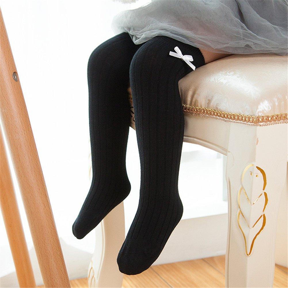 1 Pair Baby Girl Knee-High Socks Toddlers Breathable Dance Sock Leg Warmer Cotton Over Calf Knee High Socks