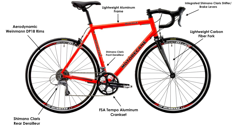 8ede3cde710 Amazon.com : 2018 Motobecane Mirage SLX Aluminum Frame Carbon Fork 24 Speed  Shimano STI 700c Road Bike : Sports & Outdoors