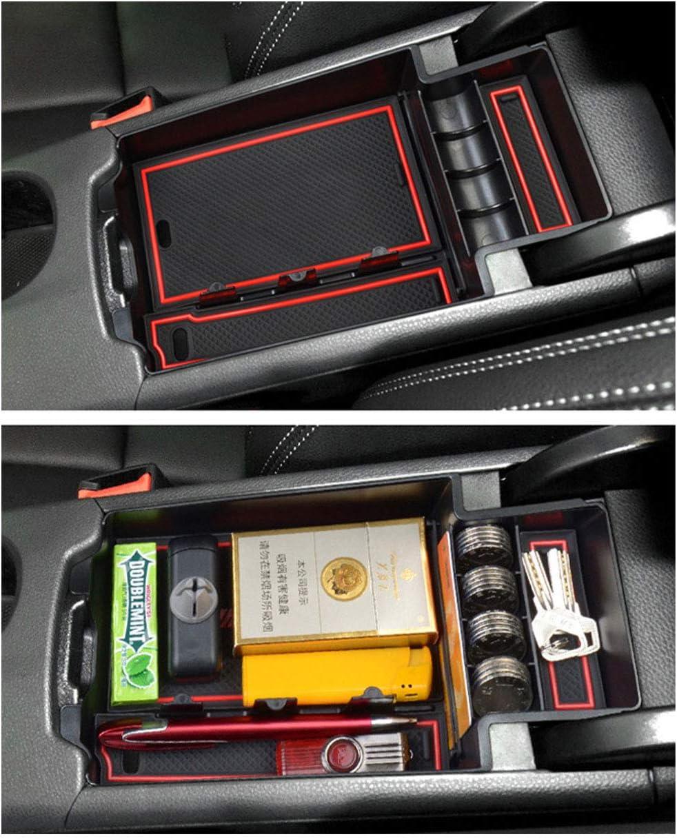 YEE PIN Auto Central Console Bo/îte de rangement pour Benz CLA-Clase C117 Accessoires de Voiture Int/érieur Compartiment /à Gants Console Centrale Organisateur Plateau Avec Tapis Antid/érapant