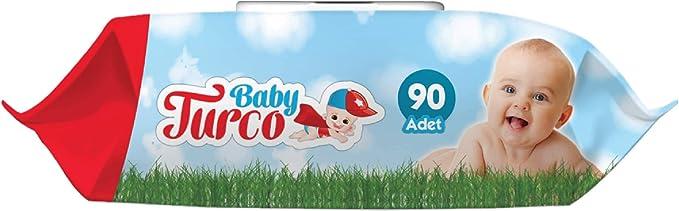 Baby Turco Islak Havlu Mendil, 90 Yaprak