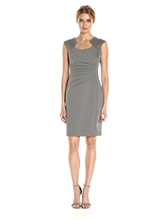3130343e Calvin Klein Women's Sheath Dress with Ruching at Amazon Women's ...