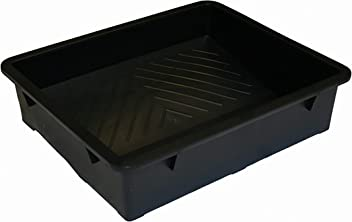 "15 inch Heavy Duty Plastic Paint Tray, Black, Ideal for 9"" 12"" and 15"" Roller Sleeves"